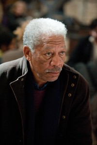 "MORGAN FREEMAN as Lucius Fox in Warner Bros. Pictures' and Legendary Pictures' action thriller ""THE DARK KNIGHT RISES,"" a Warner Bros. Pictures release. TM & © DC Comics"