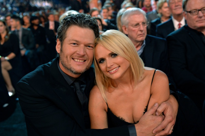"THE 48TH ANNUAL CMA AWARDS - ""The 48th Annual CMA Awards"" airs live from the Bridgestone Arena in Nashville on WEDNESDAY, NOVEMBER 5 (8:00-11:00 PM/ET) on the ABC Television Network. (ABC/Image Group LA) BLAKE SHELTON, MIRANDA LAMBERT"